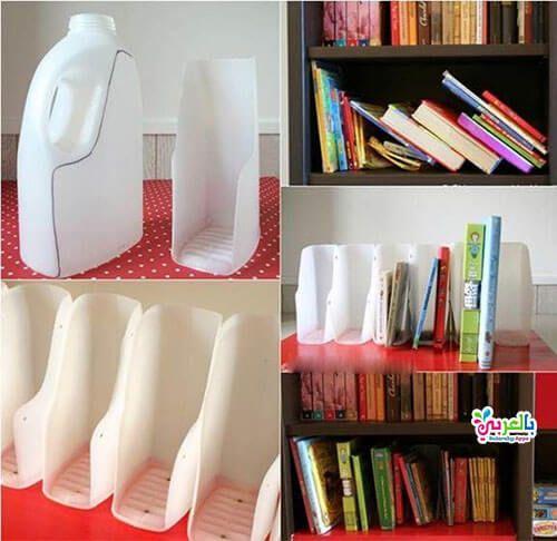 بالصور 10 طرق اعادة تدوير الزجاجات البلاستيكية اشغال يدوية بالعربي نتعلم Recycle Plastic Bottles Diy Books Organizer Reuse Plastic Bottles