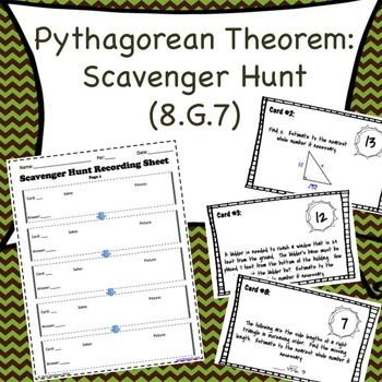 8 g 7 pythagorean theorem scavenger hunt activities the o 39 jays and searching. Black Bedroom Furniture Sets. Home Design Ideas