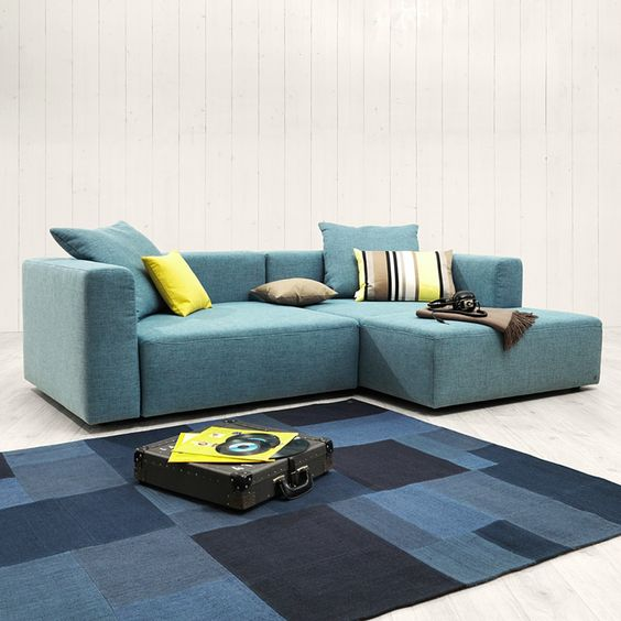 canap d 39 angle heaven casual s casual convertible et turquoise. Black Bedroom Furniture Sets. Home Design Ideas