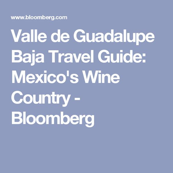 Valle de Guadalupe Baja Travel Guide: Mexico's Wine Country - Bloomberg