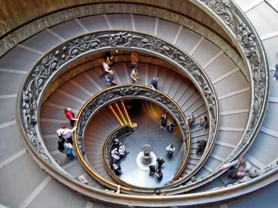 Den dobbelte vindeltrappe i Vatikanmuseet