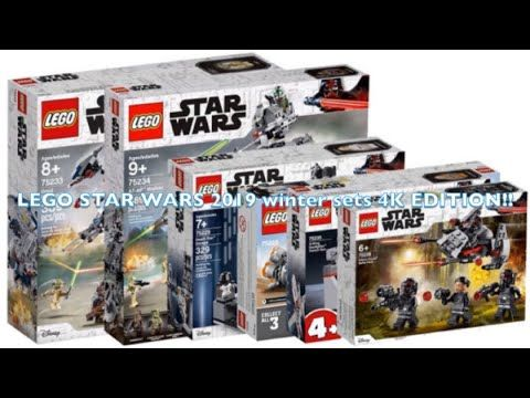Lego Star Wars 2019 Winter Sets 4k Edition Youtube With Images