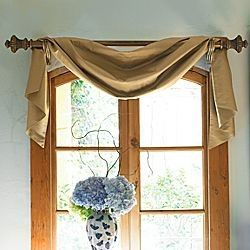 How To Hang Scarf Curtains Window Dressing