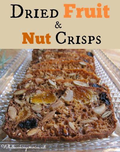 Fruit & Nut Crisps Recipe | whatscookingamerica.net | #fruit #nut ...