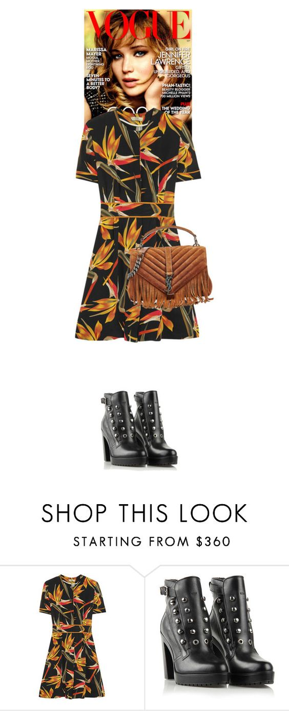 """""""Alisha Daisy #5699"""" by canlui ❤ liked on Polyvore featuring Fendi, Diesel and Yves Saint Laurent"""