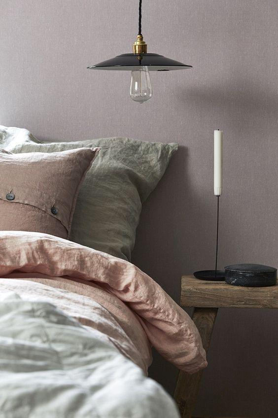 Borstapeter Linen in Lavender Blush