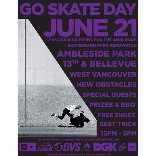 Go Skate a Day is June 21st so why not spend it at #Ambleside park? Sponsored by @Ronda Jones and #DGK! #gsdvan14 #vancouver #skate #party