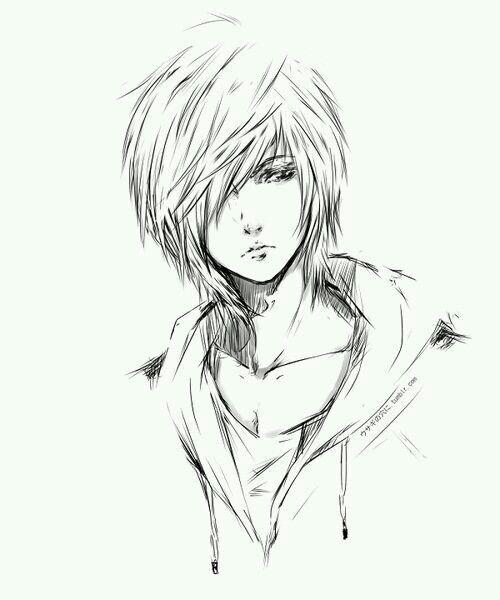 Emo Boy Emo Boys Emo Boy Sketch Anime Boy Sketch Anime Drawings Anime Sketch