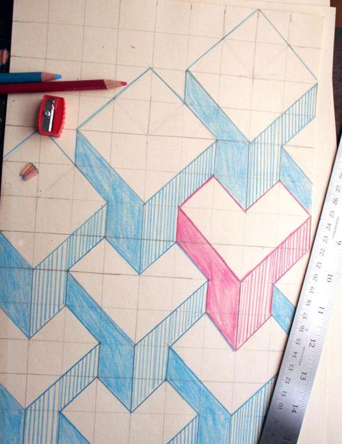 Pinta Tus Paredes En 3d 2 Dibujos De Geometria Dibujos En Cuadricula Arte De Calavera De Alfeñique