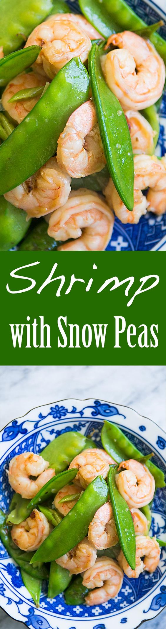 classic Chinese stir fry of shrimp and snow peas with a mild ginger ...