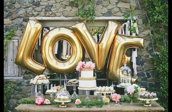 Ich sage ja! - Candybar und LOVE Ballon