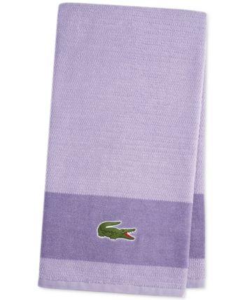 Lacoste Match Cotton Colorblocked Bath Towel Reviews Bath Towels Bed Bath Macy S Bath Towels Towels Online Towel