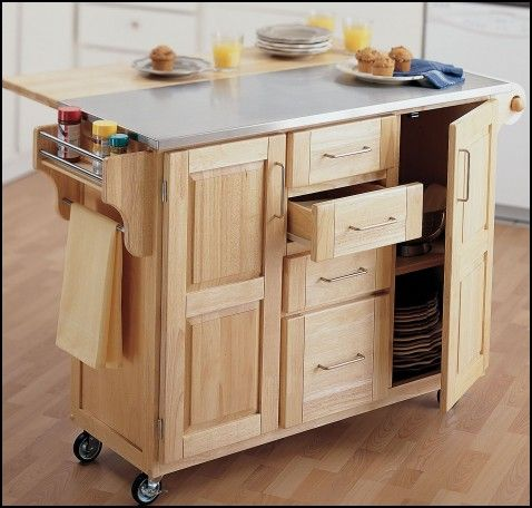 Wheeled Kitchen Island  Wheels  Tires Gallery  Pinterest Interesting Kitchen Island On Casters Design Inspiration