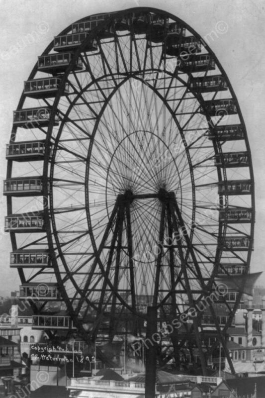 Ferris Wheel Chicago World's Fair 1893 - That's right folks. A Chicago original! On the Midway