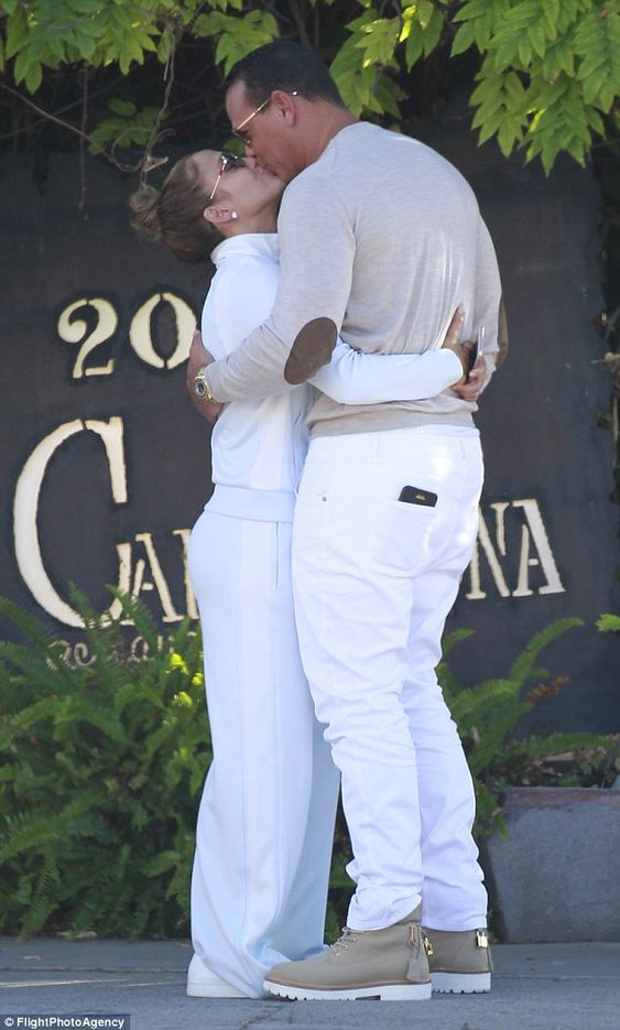 Dressed to impress! Jennifer Lopez and Alex Rodriguez proved couples that dress together stay together during an all-white PDA lunch on Saturday