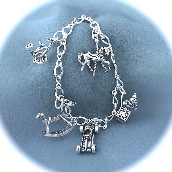 925 Sterling Silver Childhood Toy Charm by LoriLakeJewelry on Etsy, $75.00