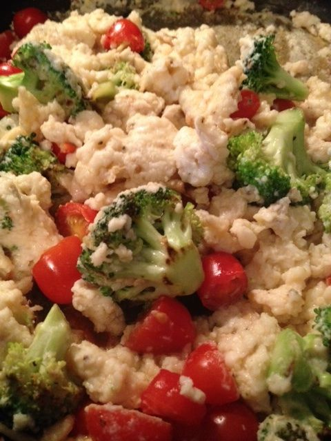 Veggie Egg Scramble- packed with protein