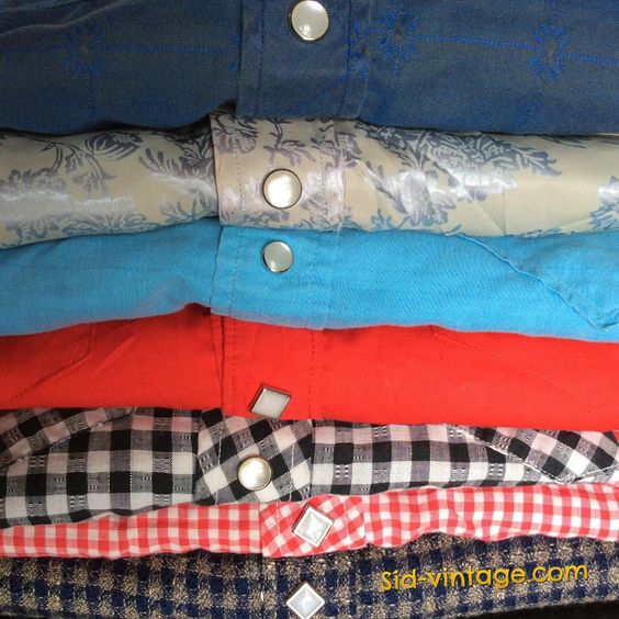 Just listed a bunch of 1950's cowboy shirts.