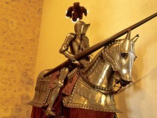 Aspecto de una armadura medieval.