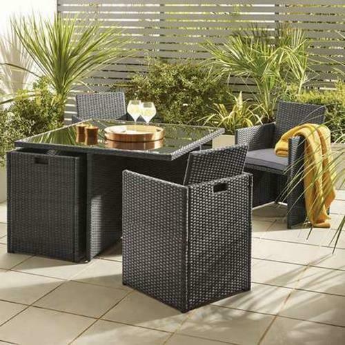 Cube Set Garden Furniture Outdoor Table