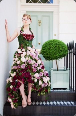 Blush Floral Design's blog, if only one night I could wear a gorgeous dress of flowers, a simple wish!?