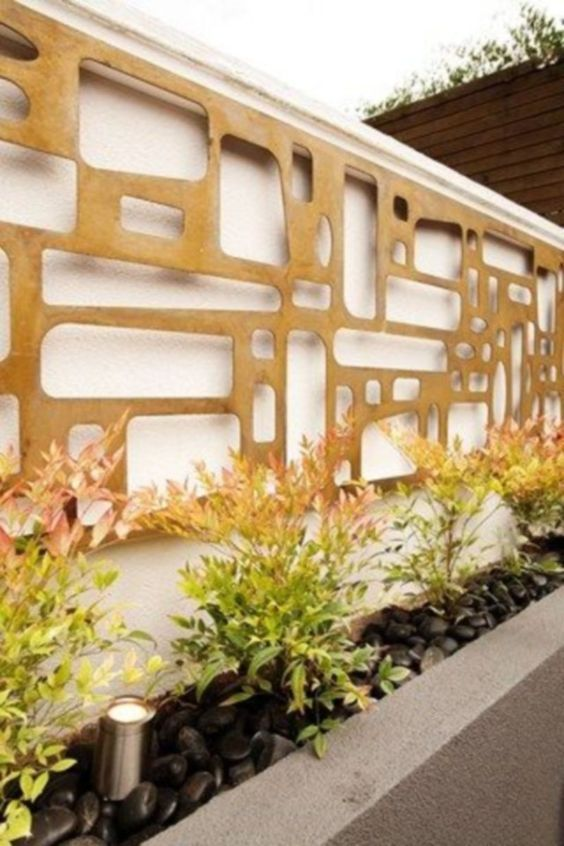 Stunning Backyard Wall Ideas You Might Want To Steal Modern
