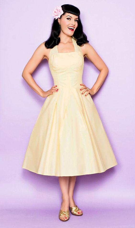 La novia pin up - vestido blanco: