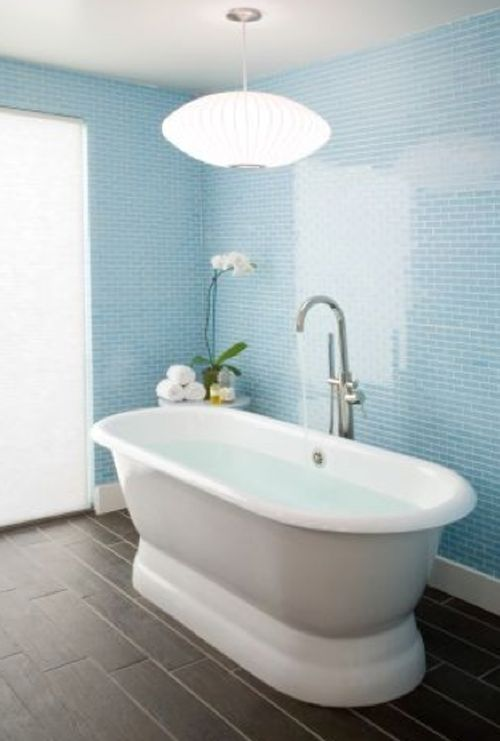 Light Blue Bathroom Wall Tiles: Blue Tiles, Glasses And Tile On Pinterest