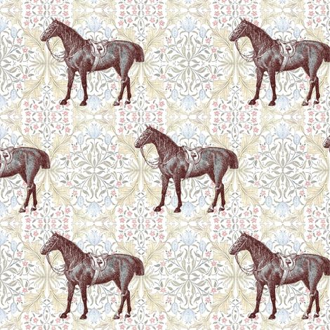William Morris' Horse fabric by ragan on Spoonflower - custom fabric