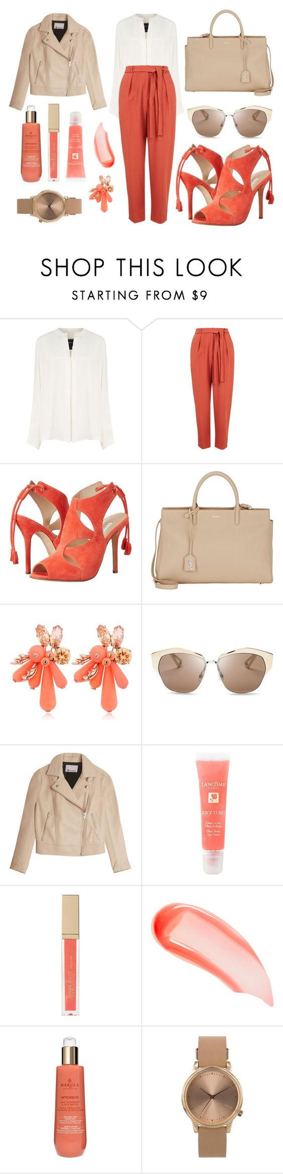 """""""Work day in Rome with my squad"""" by fashionholli ❤ liked on Polyvore featuring Derek Lam, Topshop, Oscar de la Renta, Yves Saint Laurent, Ek Thongprasert, Christian Dior, T By Alexander Wang, Lancôme, NARS Cosmetics and Marula"""