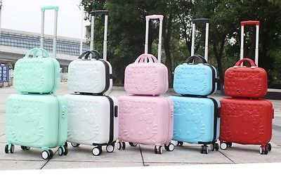HELLO-KITTY-Luggage-Suitcase-Traveling-ABS-Trolley-Bag-Women-travel-2pc-SET