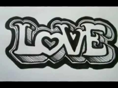 P Alphabet In Love OUTSTANDING!! 3D Graffiti letters On Paper - The Basics - Love Letters