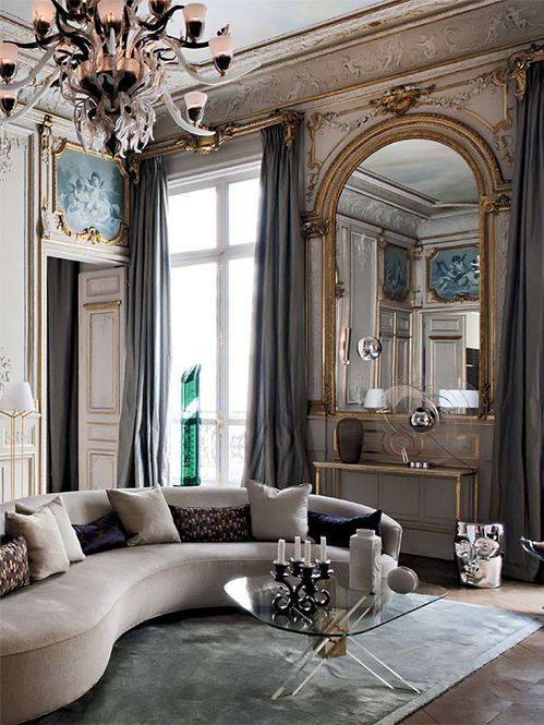 Glam i love how airy and light and spacious this feels for Glam living room ideas