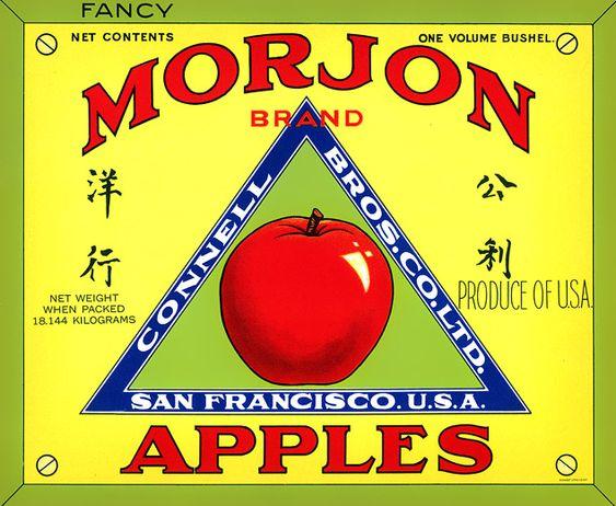 BoxOfApples :: Kitchen and Restaurant Decor :: Fruit Crate Label Art: Fruit Crates, Label Design, Apple Crates, Labels Morjon, Fruit Veggie Labels, Fruit Labels