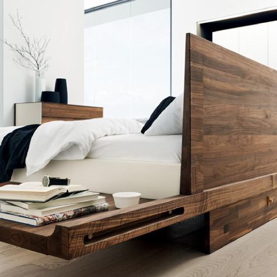 Team 7 Riletto Bed with Wooden Headboard from Greyhorne Interiors - dream massivholzbett ign design