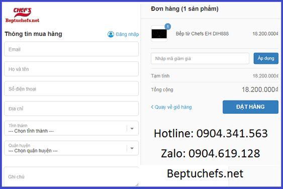 Có nên mua bếp từ Chefs EH DIH888 online không?