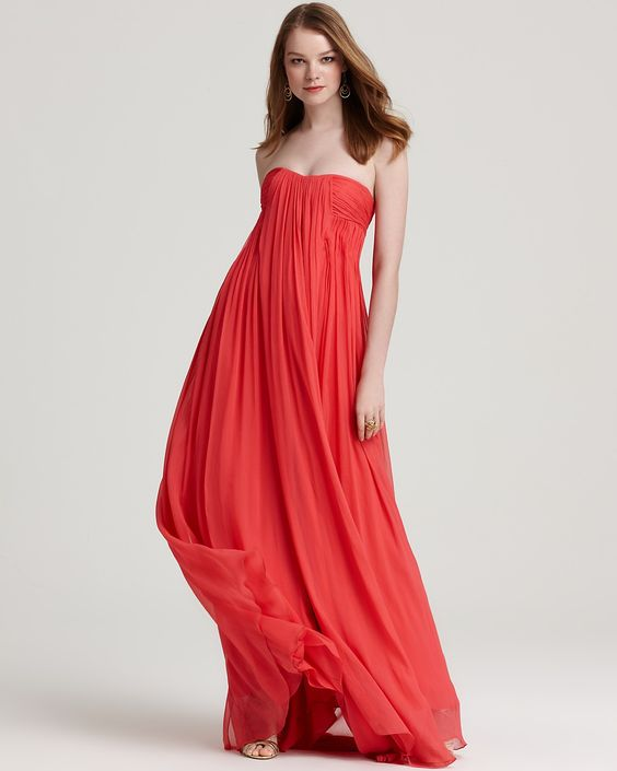 Halston Heritage Strapless Gown - Crinkle Chiffon - gorgeous dress, now I just need an occasion...