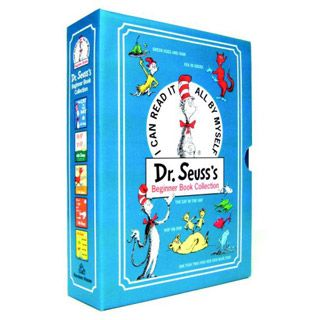 $44.99 - A perfect gift for new parents, birthday celebrations, and happy occasions of all kinds. • This collection of five beloved Beginner Books by Dr. Seuss includes; • The Cat in the Hat• One Fish Two Fish Red Fish Blue Fish• Green Eggs and Ham• Hop on Pop, and• Fox in Socks• These will be cherished by young and old alike. Ideal for reading aloud or reading alone, they will begin a reading adventure of a lifetime!