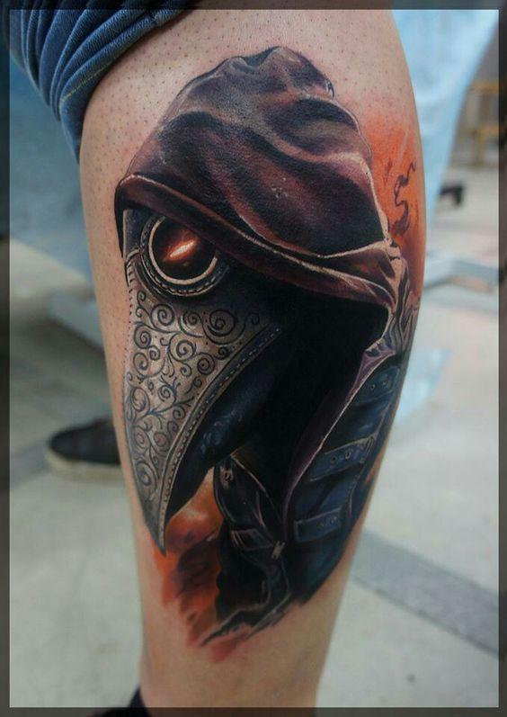 Steampunk plague doctor tattoo tattoos pinterest for Plague doctor tattoo