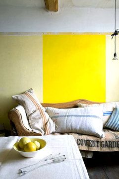 colorblocked wall.