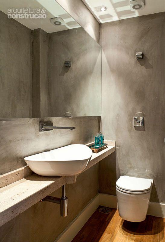 47 banheiros e lavabos de visita com boas ideias de décor  Cuba, Pesquisa e  -> Cuba De Banheiro Triangular