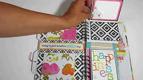 Tutorial Heidi Swapp Favorite Things Mini Album von Sabine für die YouTube-Aktion von www.danipeuss.de | Heidi Swapp Favorite Things