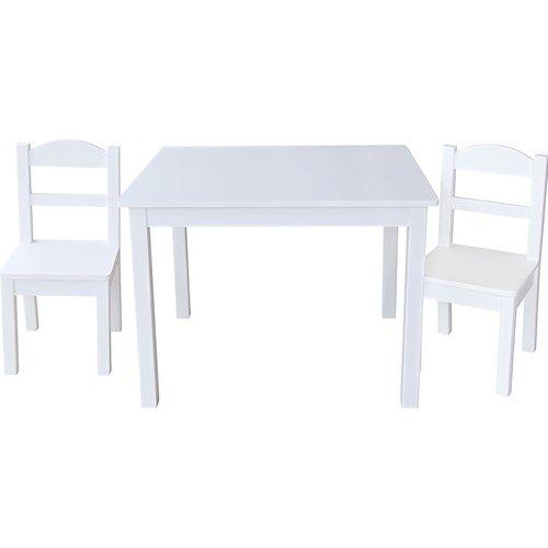 JOX Furniture, Bord & 2 pack stolar, Vit | Möbelidéer