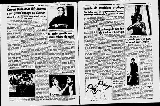 Conrad Dubé - en vélo autour du monde -article de La Patrie - 1957
