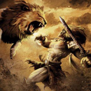 Travaux 1 d'Hercule : Tuer le Lion de Némée. Hercule l ...