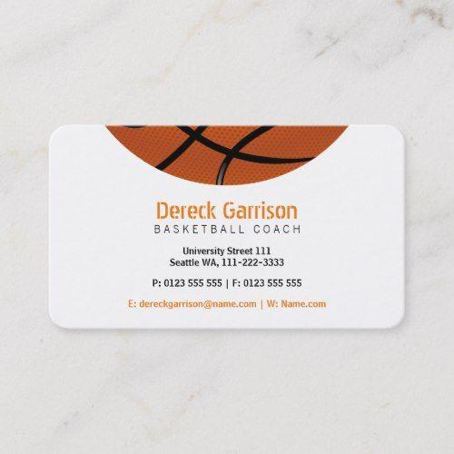 Basketball Coach Sport Business Card Zazzle Com Basketball Coach Sports Coach Basketball Business Card