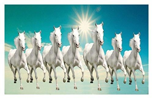 Hk Prints Horse Sticker 12x18 Inch Multicolour White Horse Painting Horse Wallpaper Horse Canvas Painting