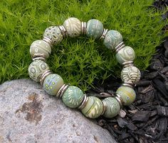More Green Lemonade Polymer Clay Beads | Flickr - Photo Sharing!