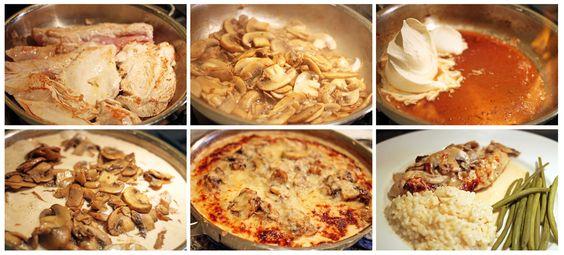 Normandy Style Turkey Scaloppini http://www.foodme.fr/pages/recette/Normandy-Style-Turkey-Scaloppini/16/91/en  #normandy #cream #turkey #mushroom