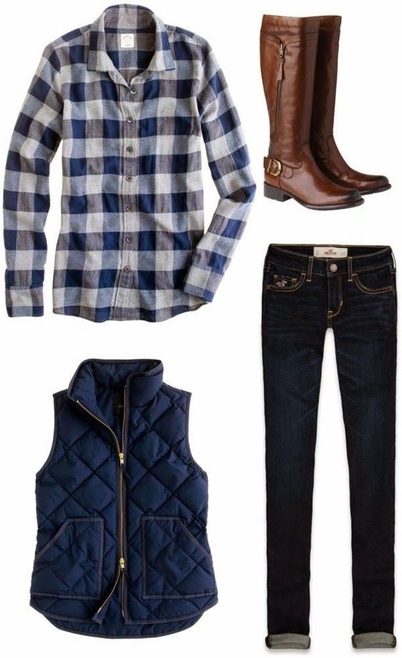 Casual de otoño, Colores azules and Botas on Pinterest